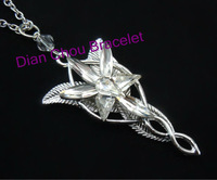 Freeshipping wholesale 20pc a lot Platinum plated  The Arwen Evenstar Pendant  Crystal stones Necklace from Lord of ring BB10