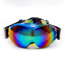 clearance promotion ski goggles multip-color/dual lens uv-protection anti-fog Winter snow ski goggles glasses(China (Mainland))