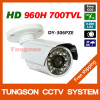 1/3''Sony 960H 700TVL White Bullet Video Surveillance Outdoor Waterproof Day/Night Home Security Night Vision IR CCTV Camera