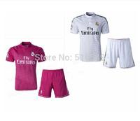 2014-2015 best quality REAL MADRID short sleeve soccer jerseys kit, OZIL #10 RONALDO # 7football shirt
