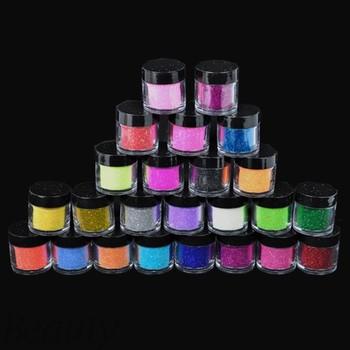 5 Set/Lot  New 24 Colors Metal Shiny Dust Nail Glitter Nail Art Powder Tool Kit Acrylic UV Wholesale 5838