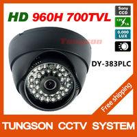 Genuine Sony 960H CCD Effio 700TVL Video Surveillance 0.001LUX Night Vision Color 36leds Indoor Black Dome Security CCTV Camera