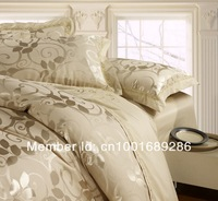 Luxury bedding set Silk 4pcs bedclothes bed linen sets queen king size Quilt/duvet cover set bedsheets cotton bedcover FAST ship