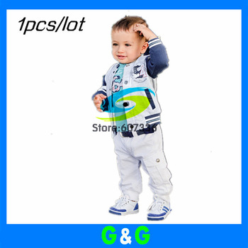 Hot sale Free shipping 1set/lot (Jacket +Shirt+Pants ) 3pcs Cool Baby Boys suit Boys Clothes Set Kid Clothes spring wear set