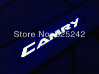 Excellent 4pcs/set led stainless steel threshold door sills/scuff plate For Toyota CAMRY 2012-2014 LED light sticker