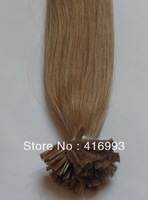 "20"" 50cm 8# Medium Brown Colour  Keratin Hair Flat Tip Hair Pre-Bonded Human Hair Extensions Indian Remy 1g/strand 100g/lot AAA"