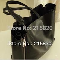 Free Shipping  Fashion  Genuine Leather Female Bags ,Big Handbags Women , Black and Brown
