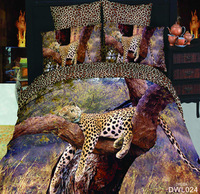 luxury animal bedding set 3d 100% cotton bedclothes 4pcs bed linen KING queen bedcover bed sheet duvet cover set Free fast ship