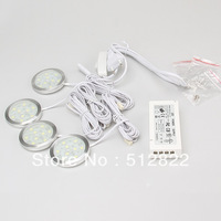 LED Cabinet Light With Power Driver With 6 Junctioon Port Slim Round Led Puck Light For Cabinet  SMD5050  9leds 220VDC