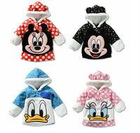 children thick hoodies girls boys sweatshirt fit 1-4yrs baby kids soft warm hedging coat clothing