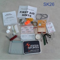 Free Shipping SK26-F Camping Hiking Survival Kit