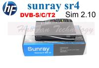 DHL Free Shipping Sunray 800se SR4 Internal Wifi Satellite Receiver sunray sr4 Triple tuner DVB-S(S2)/C/T2 Sim 2.10 Decoder