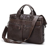 2014 Hot Male Genuine leather handbags messenger bags commercial briefcase vintage 7122
