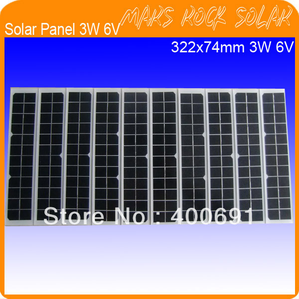 3W 6V 500mA Mono Crystalline Solar Panel, PV Solar Module, Tempered Glass Solar Module with TUV, UL, CE, ROHS Certificated(China (Mainland))