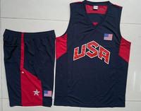 Cheap Price Blue&White American James National Team Jersey Dream 10 USA Basketball Uniforms Wholesale