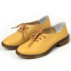 High Quality Fashion Women's Spring British Style Genuine Leather Shoes Vintage Flats Shoes Free Shipping A2822(China (Mainland))