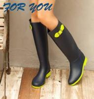 New 2014 Women Rain Boots Women Rubber Boots Pink And Green Rainboots Autumn Summer Flat Waterproof galocha Sapatos Shoes