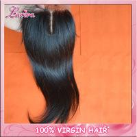 "Brazilian top closure hair,lace top closure swiss lace 4""*4"".Brazilian Virgin straight  Hair  Top Lace Closure"