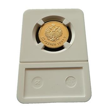 10 pcs/lot  High quality 15Rubles 1897 Gold clad Replica Souvenir coins Lyublino
