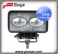 High Power 20W cree led work light, 2pcs of 10W LED working light for car 24V