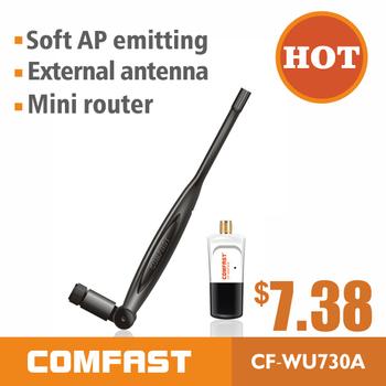 150Mbps ralink5370 wireless network lan card adapter  usb adapter for desktop/laptop comfast CF-WU730A high power wifi antenna