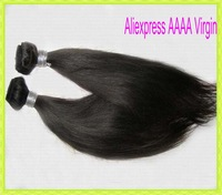 "2pcs/lot free shipping Malaysian straight virgin hair(unprocessed)12""-28"" Excellent Aliexpress Hair extension"