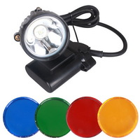 3pcs/Lot 4 Optical Filters with 4 Color 5W Hunting Light for Hog Deer Coon Coyote Hunting Osram LED IP67 Waterproof