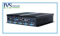 mini IPC fanless embedded  industrial computer  D2550 1.86MHZ CPU, six COM,six USB, HDMI,2GB RAM,Wifi,Wallmounted