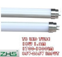 Free shipping wholesale 18W T8 led tube lamp 85V-265V input 1.2m length lighting 1750lm 50pcs/lot