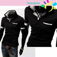 3pcs/lot 2013 New Men's Shirt  Casual  Stylish Slim Short Sleeve shirt T-Shirts  free shipping 3633
