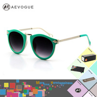 Retail AEVOGUE Retro Eyewear 7 colors sunglasses women Arrow decoration Metal legs glasses CE UV400 DT0236