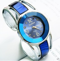 2013 New Fashion Crystal Dress Watches Wristwatches for Women Ladies Bangle Casual Watches Hours Free Shipping Wholesale Blue