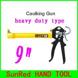 "SunRed BESTIR taiwan famous tool heavy duty open style glass sealant 9"" manual caulking gun with yellow handle,NO.14503 freeship(China (Mainland))"