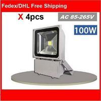 (4pcs/lot)85-265V 100W LED Floodlight Outdoor 100W LED Flood light lamp wash waterproof Landscape lighting spot LED projector