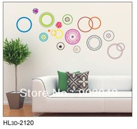 colorful circles decorative pvc wall panels decorative waterproof wall panel 50x70cm KW- HL3d-2120