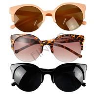 Free Shipping Fashion Unisex Retro Designer Round Cat Eye Semi-Rimless Sunglasses Glasses B2# 41