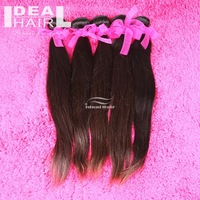 Free shipping 4pcs lot mixed length queen virgin brazilian straight, can be dyed Natural straight virgin hair
