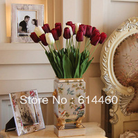 Artificial Tulip Flowers High Quality Home Decorationfree Wholesale Freeshipment 10PCS/LOT