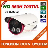 NEW 2014 Best Sony CCD 960H Effio 700TVL OSD Menu 2 lamp Array Indoor Outdoor Waterproof Night Vision Video CCTV Camera Security