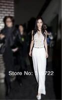 HOT new women white formal dress Euro waist slim temperament dress,women evening dress M,L A-110