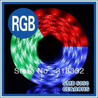 led holiday lights 5M  led RGB Strip 5050 SMD 60led/m  Waterproof + 24key Remote + 12V Transformer For Home Decoration Freeship