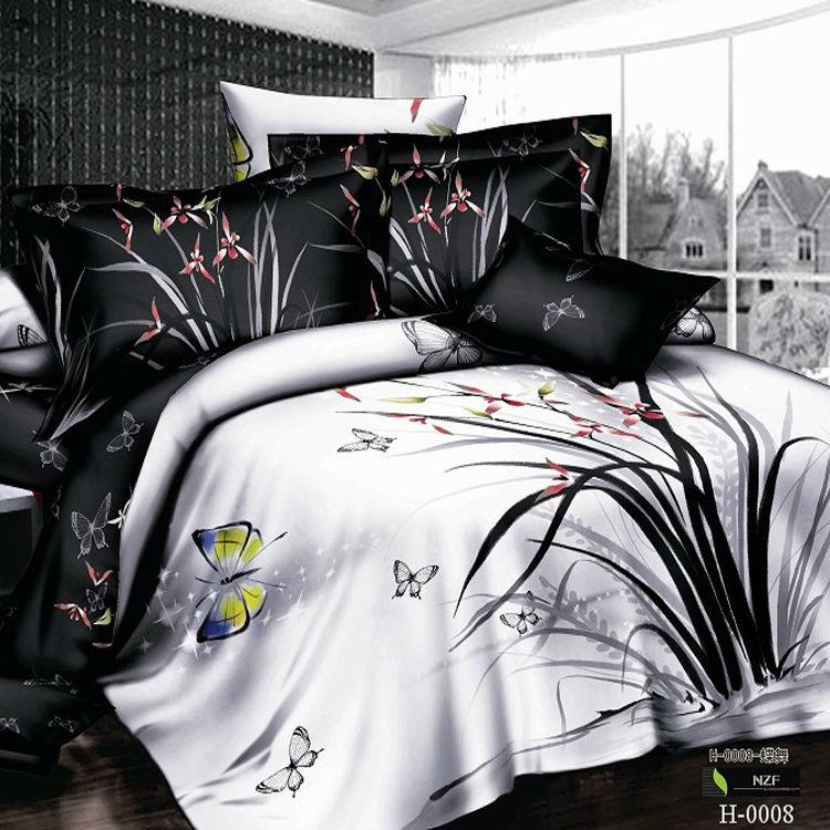 Blue White Bedding Bed Linen Floral Amp Stripe Reversible Duvet Cover