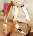 18KGP Fashion costume jewelry 18K rose gold plated lover bangle gift for women mix color B637