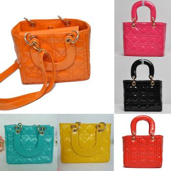 Girls Candy Colors Fashion HandBags Girls Accessories Kids Handbags Children PU Party Bags 130116013-BB