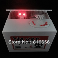 1Piece Ghost Money Box,Skull Coin Bank / Skeleton Coin Bank,Ghost Bank,Free Shipping