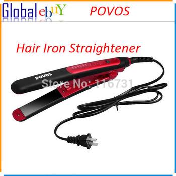 Povos PR2021I Hair Straightener Professional Ceramic Plates Iron Salon Smooth Hair Styler 40W US Plug  Straightening Irons