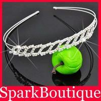 Crystal Rhinestone Crown Hair Hoop Rhinsetone Tiaras Bridal Hair Jewellery 6pcs/lot(can mix) Free Shipping