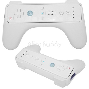 Remote Controller Handle Grip for Nintendo Wii, White