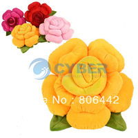 Flower Rose Hold Pillow/ Cushion/ PlushToys Valentine's Gift 4Colors Free Shipping 9496