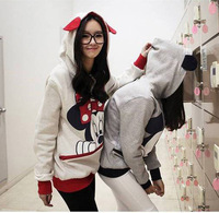 High quality Spring & Antumn new arrival Mickey cartoon rabbit ear plus size sweatshirt hooded cartoon hoodie Couples WH-045